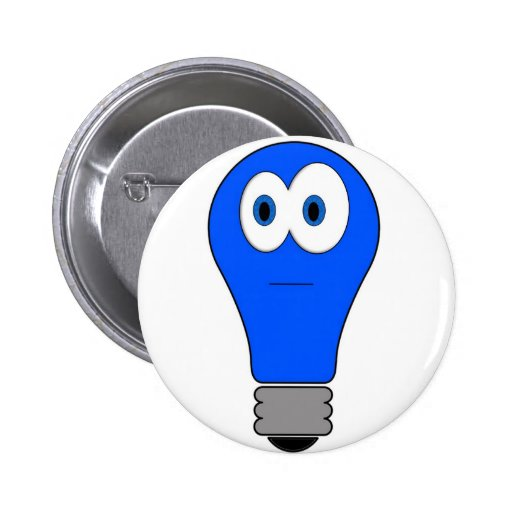 Blue Light Special 2 Inch Round Button