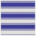 [ Thumbnail: Blue & Light Yellow Colored Lines/Stripes Pattern Fabric ]