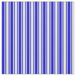 [ Thumbnail: Blue & Light Yellow Colored Stripes/Lines Pattern Fabric ]