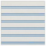 [ Thumbnail: Blue & Light Yellow Striped Pattern Fabric ]