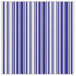[ Thumbnail: Blue & Light Yellow Stripes/Lines Pattern Fabric ]