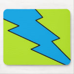 Blue lightening, bolt, nerd design mouse pad