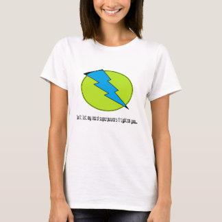 Blue lightening, bolt, nerd design T-Shirt