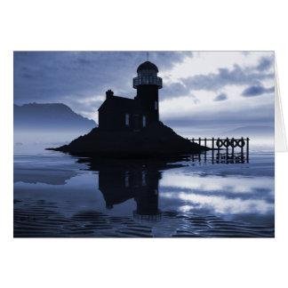 Blue Lighthouse Card