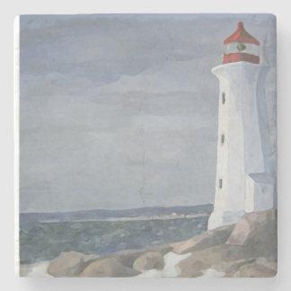 Blue Lighthouse coaster