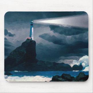 Blue Lighthouse mousepad