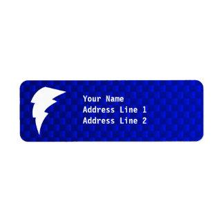 Blue Lightning Bolt Return Address Label