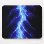 blue lightning bolt mouse mat