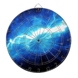 Blue lightning dart board
