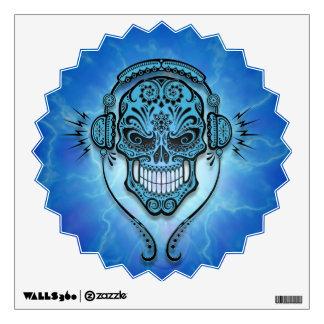 Blue Lightning DJ Sugar Skull Room Stickers