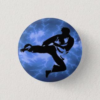 Blue Lightning Man button
