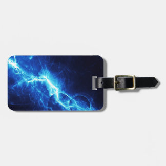 Blue Lightning Tag For Luggage