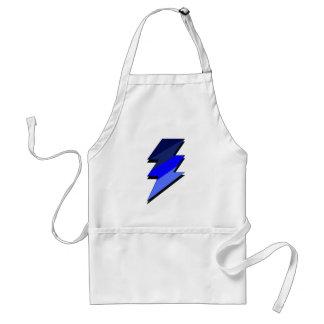 Blue Lightning Thunder Bolt Adult Apron