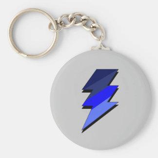 Blue Lightning Thunder Bolt Keychain