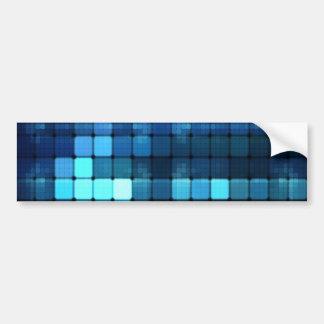 Blue Lights Car Bumper Sticker