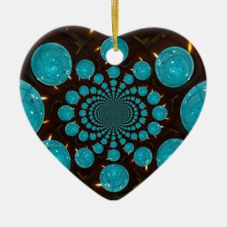Blue Lights Ceramic Ornament