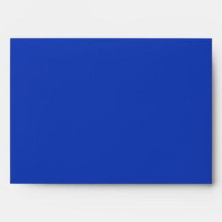Blue lights on snowy tree envelope