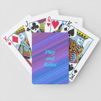 Blue, Lilac and Indigo Playing Cards