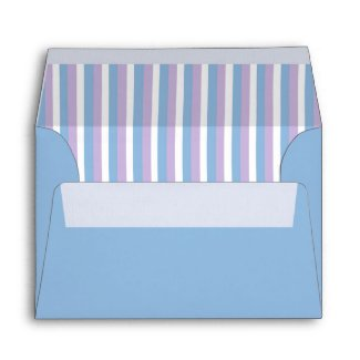 Blue Lilac White Stripes blue A6 Envelope envelope