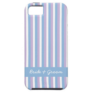 Blue Lilac White Stripes blue Wedding iPhone 5 iPhone SE/5/5s Case