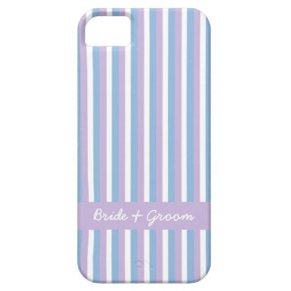 Blue Lilac White Stripes lilac Wedding iPhone SE/5/5s Case