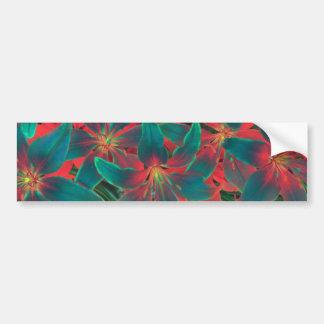 Blue Lilies Bumper Sticker