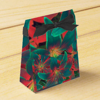 Blue lilies favor box