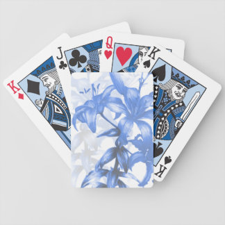 Blue lilies fine art playing cards