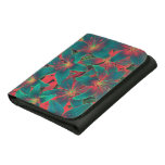 Blue lilies leather wallets