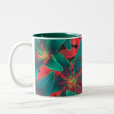 Blue Lilies Mug by