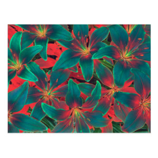 Blue Lilies Postcard