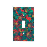 Blue lilies switch plate covers