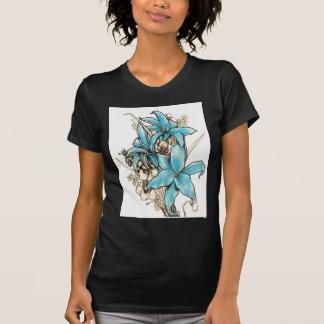 Blue lilies tshirts