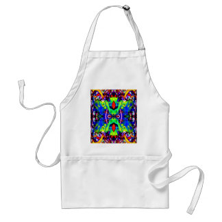 Blue Lilly Like Adult Apron