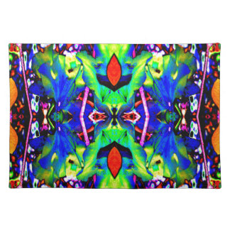 Blue Lilly Like Placemat