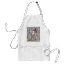 Blue Lily Fairy in Garden Adult Apron