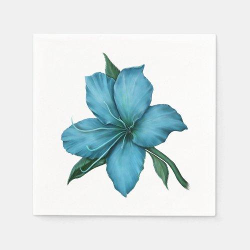 Blue Lily Napkin