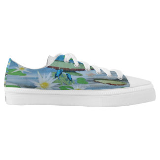 Blue_Lily_Pad_Frog_Printed_Zipz_Sneakers. Zapatillas