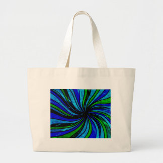 Blue Lime Abstract - All roads lead here Jumbo Tote Bag