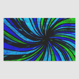 Blue Lime Abstract - All roads lead here Rectangular Sticker