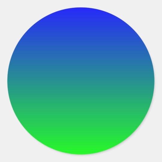 Blue Lime Gradient Classic Round Sticker