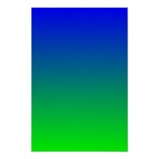 Blue Lime Gradient Poster