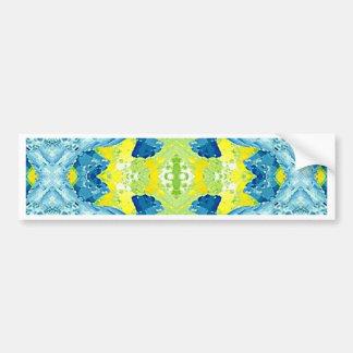 Blue Lime Green Modern Artistic Abstract Bumper Sticker