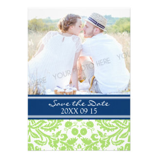Blue Lime Photo Wedding Save the Date Card