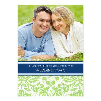 Blue Lime Photo Wedding Vow Renewal Invitation