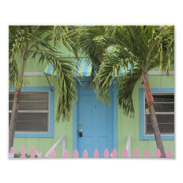 Beach Themed Blue, Lime & Pink Beach House Photo Print