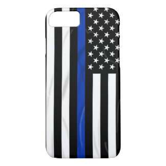 Blue Line American USA Flag Cop Police iPhone 8/7 Case