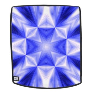 Blue Line Burst Pattern Backpack