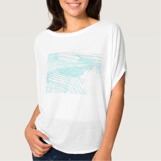 Blue line drawing Women's T-shirt Part 1