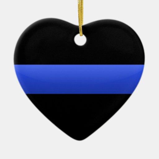 Blue Line fino Adorno Navideño De Cerámica En Forma De Corazón